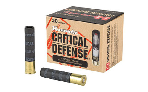"Hornady Critical Defense  410 Gauge 2.5""  Defender, 20 Round Box"