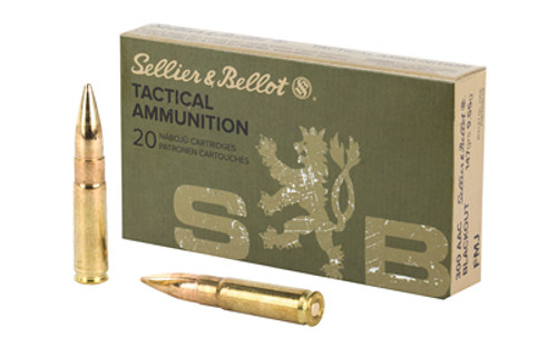 Sellier & Bellot Rifle 300 Blackout 147 Grain Full Metal Jacket, 20 Round Box