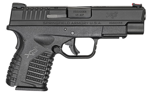 "Springfield Armory XDS94045B XD-S 45 ACP 4"" 5+1 Black Black Melonite Steel Slide Black Interchangeable Backstrap Grip"