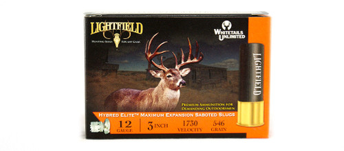 LIGHTFIELD HYBRED ELITE 3″ 12 GA. 546GR Slugs
