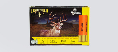 LIGHTFIELD HYBRED LITES 2-3/4″ 12GA. 546GR SLUGS