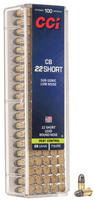 CCI 0026 Specialty CB 22 Short 29 gr Lead Round Nose (LRN) 100 Bx