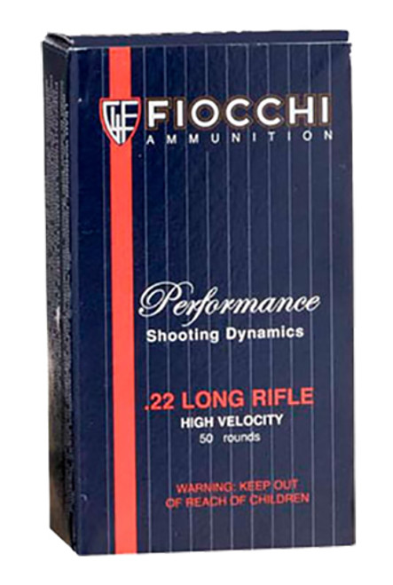 Fiocchi 22FHVCRN Shooting Dynamics Field Box 22 LR 40 gr Copper-Plated Solid Point 50 Bx