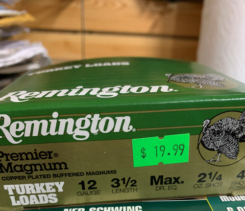 "Remington Ammunition  Premier Magnum Copper-Plated 12 Gauge 3.5"" 2 1/4 oz 4 Shot 10 Bx"