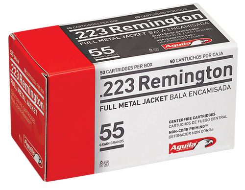 Aguila Rifle 223 Rem 55 gr Full Metal Jacket (FMJ) 50 Box
