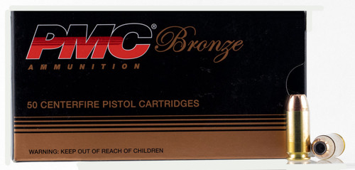 PMC Bronze 40 S&W 165 gr Jacketed Hollow Point (JHP) 50 Box