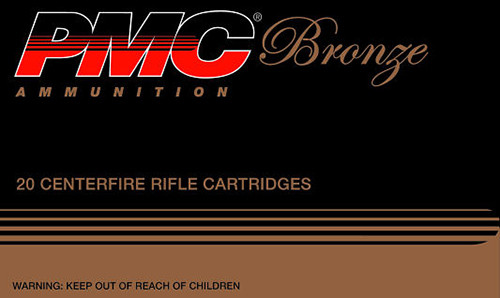 PMC Bronze 223 Rem 55 gr Full Metal Jacket Boat Tail (FMJBT) 20 Box