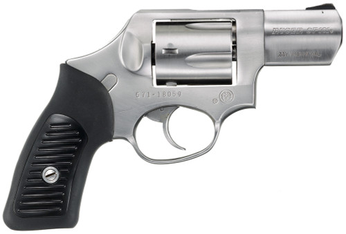 "Ruger SP101 Standard 357 Mag 5rd 2.25"" Satin Stainless Steel Black Rubber w/Synthetic Insert Grip"