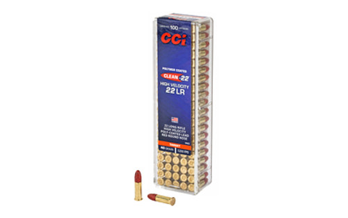 CCI High Velocity 22 LR 40 Grain Lead Round Nose 100 Round Box