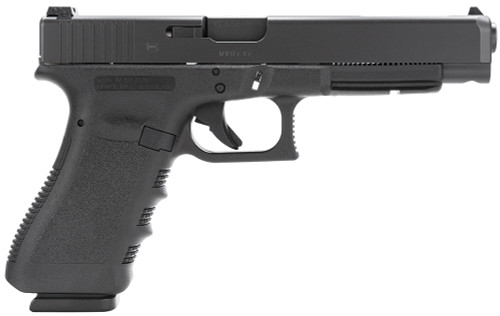 "Glock G34 Gen 3 9mm Luger 5.31"" 17+1 Black Steel Slide Black Polymer Grip Adj Sights"