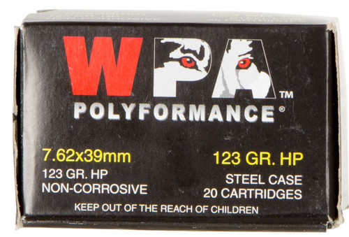 Wolf Performance 7.62x39mm 123 gr Hollow Point (HP) 20 Box