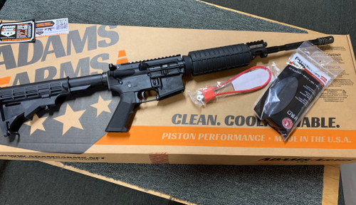 """Adams Arms P1 5.56x45mm NATO 16"""" 30 Round Black 6 Position Collapsible Stock Black A2 Grip Right Hand"""