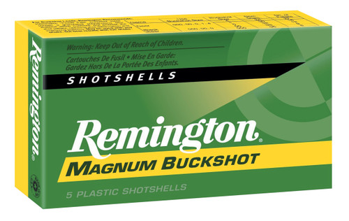 "Remington Ammunition Express Magnum 12 Gauge 3"" 15 Pellets 00 Buck Shot 5 Box"