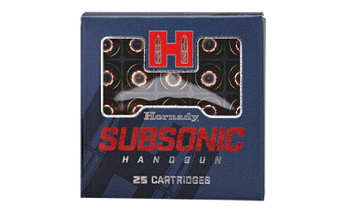 Hornady Subsonic 9MM 147 Grain XTP 25 Round Box
