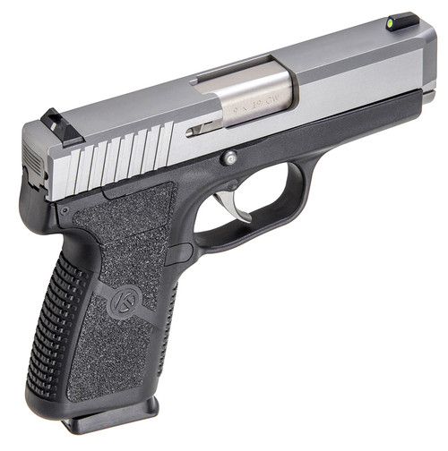 KAHR CW9 PISTOL WITH NIGHT SIGHTS 9MM 3.6 IN. TWO TONE BLACK AND STAINLESS 7 RD