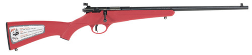 """Savage Rascal Bolt Action 22LR 16.125"""" Barrel Blued Finish Red Polymer Stock AccuTrigger Adjustable Sights Single Shot Right Hand"""
