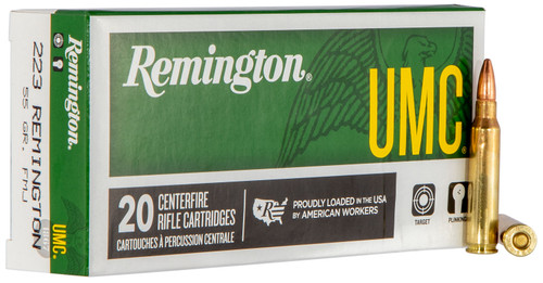 Remington UMC 223 Remington 55 Grain Full Metal Jacket 20 Round Box