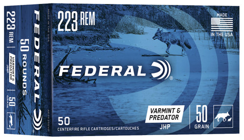 Federal, American Eagle Varmint & Predator, 223 Rem, 50 Grain, Jacketed Hollow Point, 50 Round Box