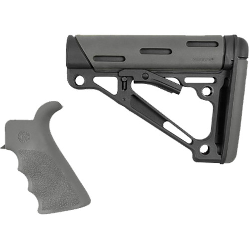 Hogue Overmolded Ar-15 Kit Gray W/ Grip And Buttstock
