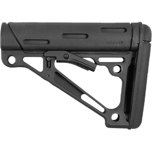 Hogue Overmolded Collapsible Buttstock Black Fits Mil-spec Buffer Tubes