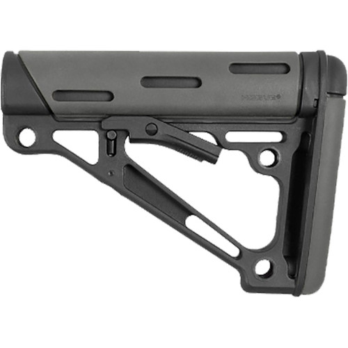 Hogue Overmolded Collapsible Buttstock Gray Fits Mil-spec Buffer Tubes