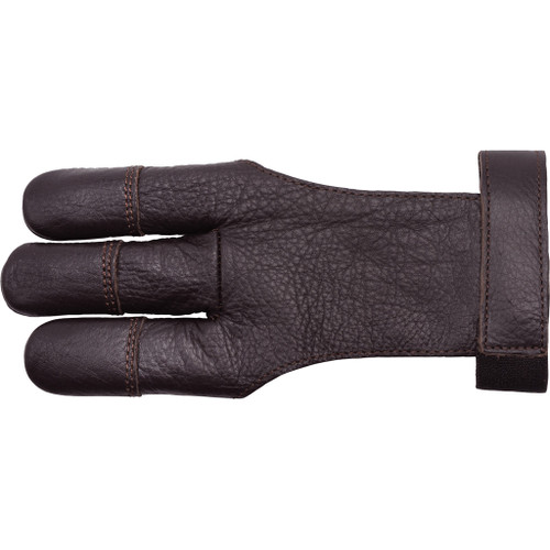 30-06 Cowhide Shooting Glove Brown 3 Finger X-small