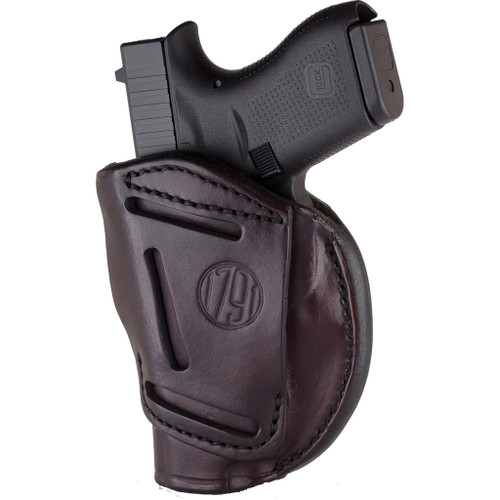 1791 Gunleather 4 Way Iwb & Owb Holster Size 4 Signature Brown Right Hand