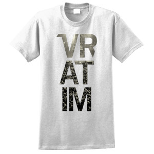 The Vratim Vertical Logo T-Shirt - white