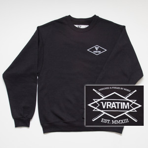 The Vratim Crest Sweatshirt - front w/ back detail
