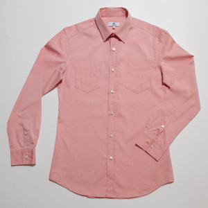 The Vratim Button-Up - Coral Orange front