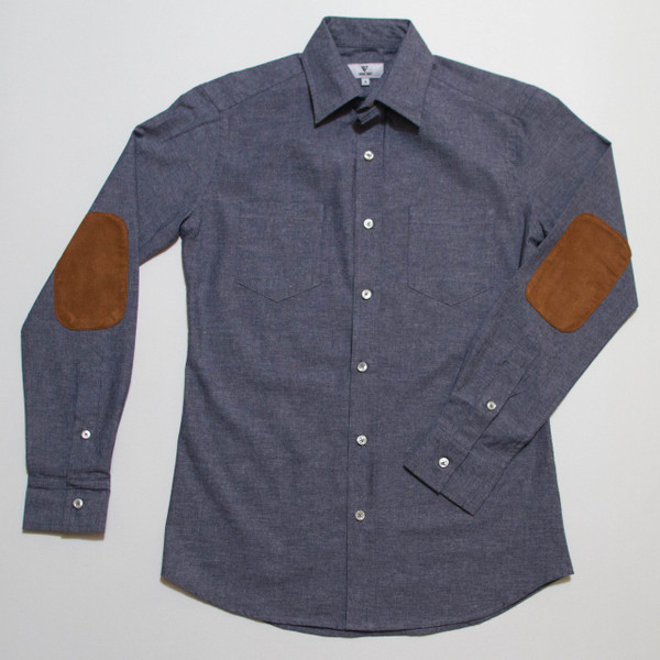 The Nicholas Button-Up - Blue Denim front