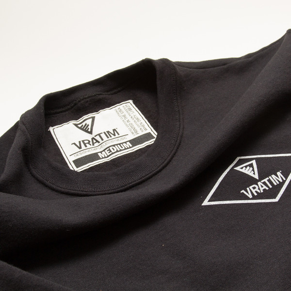 The Vratim Crest Sweatshirt - tag detail