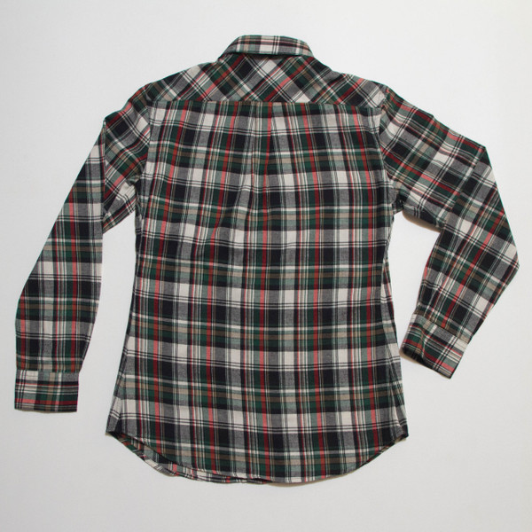 The Vratim Slim Flannel  - Green back