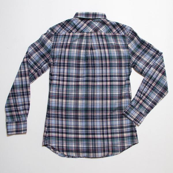 The Vratim Slim Flannel - Blue back