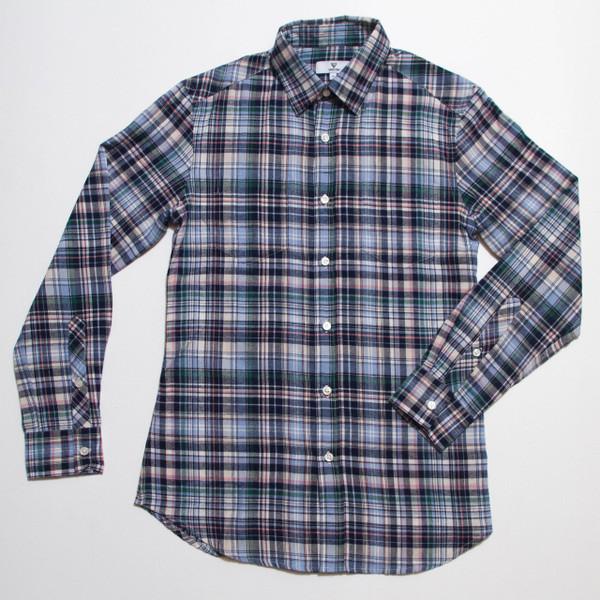 The Vratim Slim Flannel - Blue front