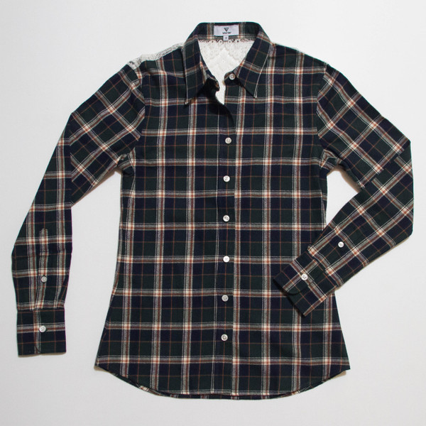 The Brooke Flannel - Green front