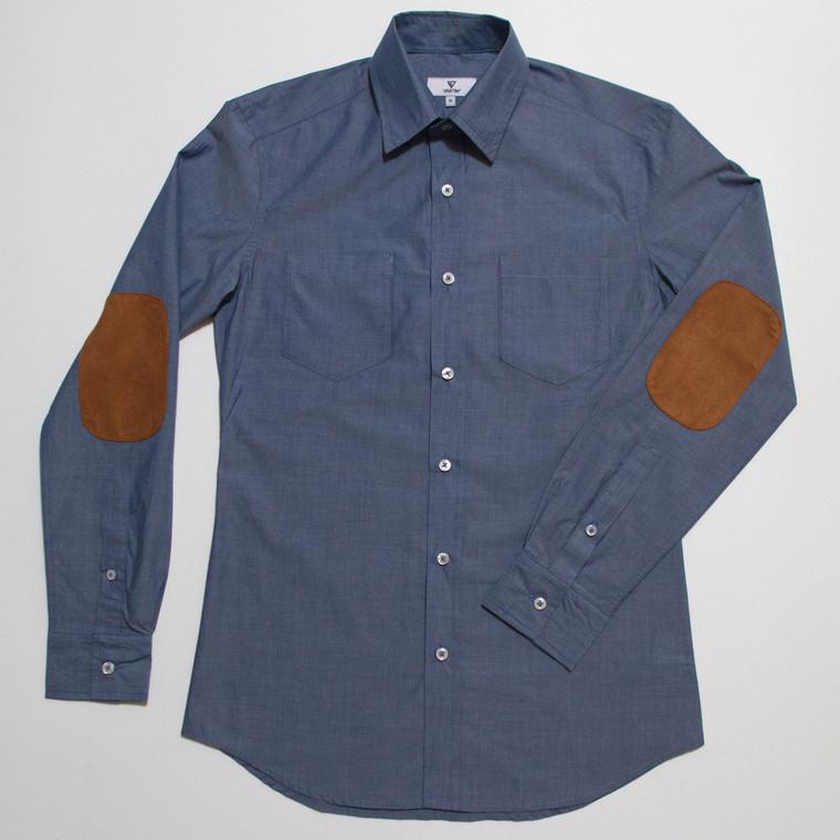 The Nicholas Button-Up - Blue front