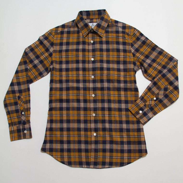 The Vratim Slim Flannel - Amber front