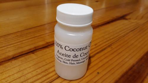 Coconut Oil, 100%, Organic, cold pressed, unrefined.