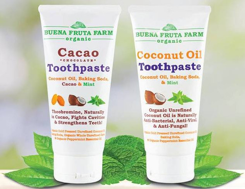 Cacao Toothpaste & Coconut Oil Toothpaste Combo