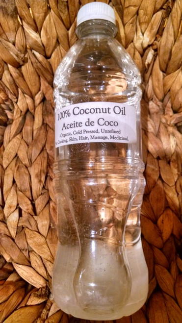 Coconut Oil, Organic, Cold pressed, Unrefined