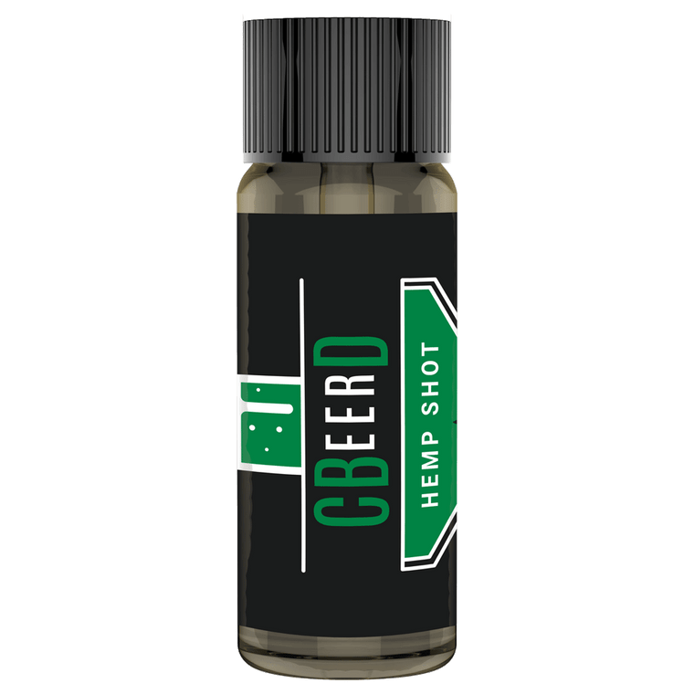 Front-View Photo of CBeerD The Original Hemp Shot CBD Mixer