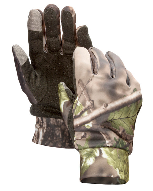 LIGHT WEIGHT CAMOUFLAGE HUNTING GLOVES - TOUCH SCREEN COMPATIBLE