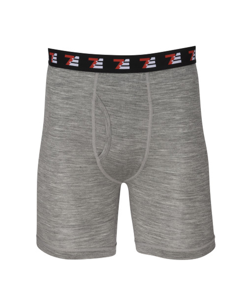 Mens Merino Wool Boxers Grey