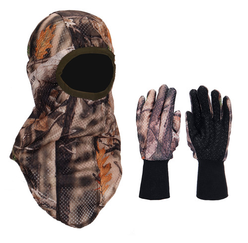 Camouflage Face Mask and Gloves