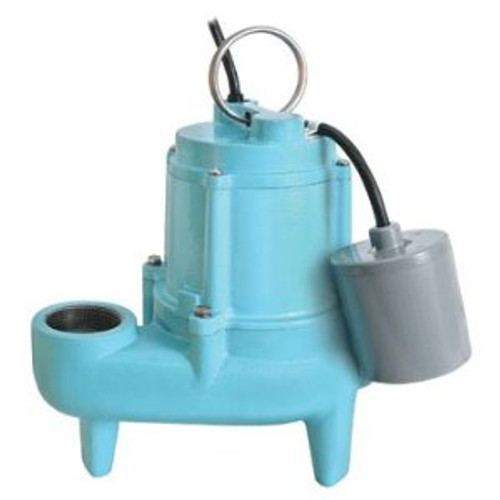 Little Giant 509500 Automatic Sewage Ejector Pump with Float Switch - 4200 GPH, 4/10 HP, 2in.