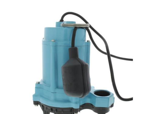 Little Giant 506803 6EC Series 1/3 hp Piggyback Mechanical Float Plastic Base Sump Pump