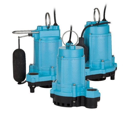 Little Giant 506858 6EC Series 1/3 hp Integral Snap-Action Float Plastic Base Sump Pump
