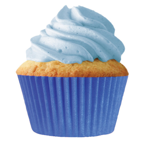 Solid Blue Baking Cups [32pcs]