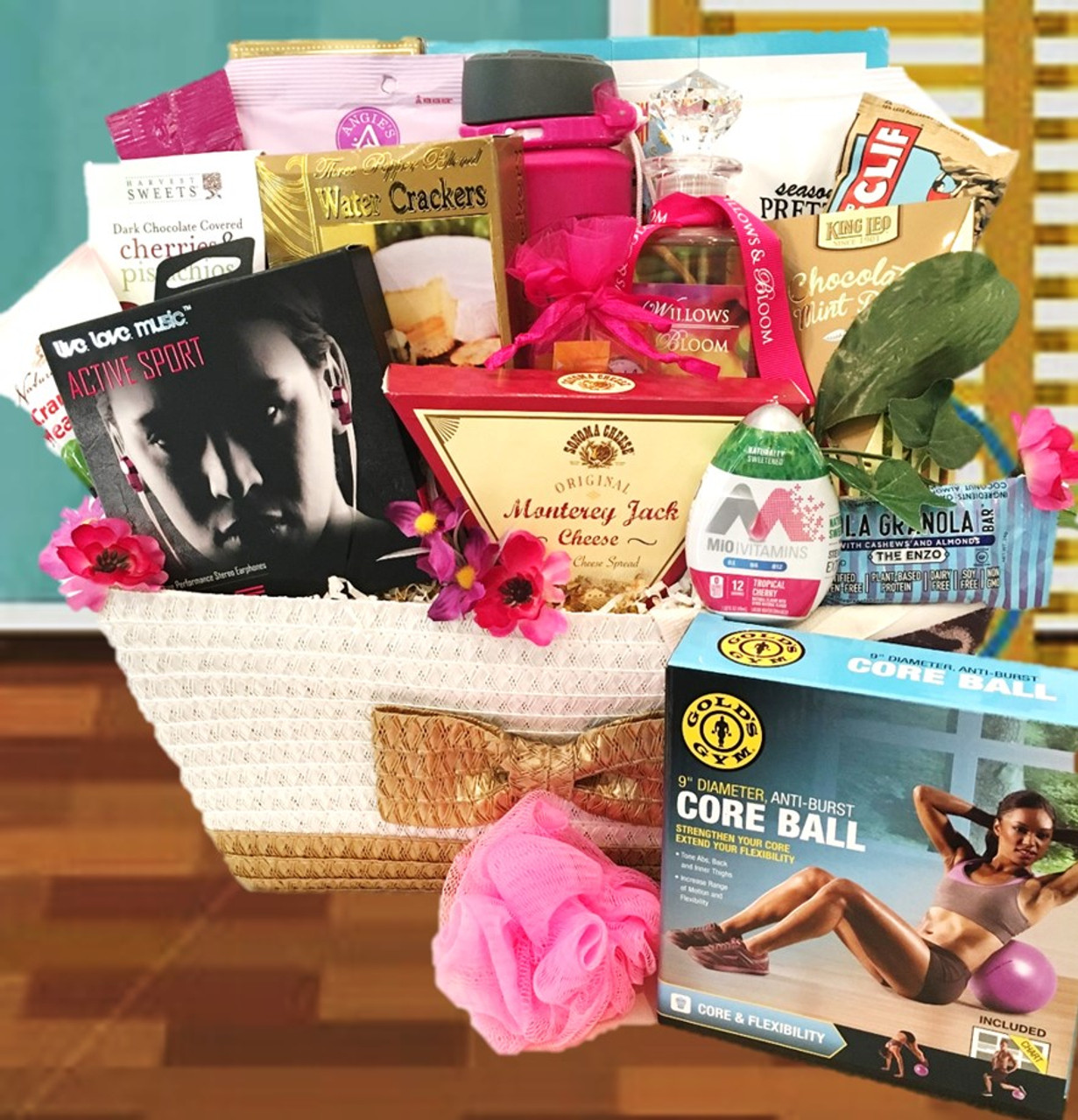 Fitness Workout Gourmet Gift Basket